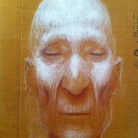 Georg Wachberg: 'saint', 2013 Oil Painting, Meditation. Artist Description:  face portrait love saint meditation spirituality god ...
