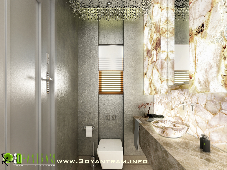 3d Bathroom Interior Rendering Design Usa Mixed Media By Ruturaj Desai Absolutearts Com