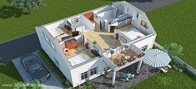Ruturaj Desai Artwork: 3D floor plan Home Design Manila | Original ...
