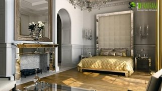 Ruturaj Desai: 'Classical 3D Interior Bed Room Rendering Design Lima', 2014 Animation, Architecture. Artist Description:  Classical 3D Interior Bed Room Rendering Design Lima.