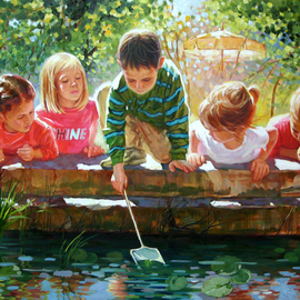 Daniel Wall: 'Childhood Fun', 2009 Oil Painting, Figurative. Artist Description: Original oil painting by Daniel Wall...