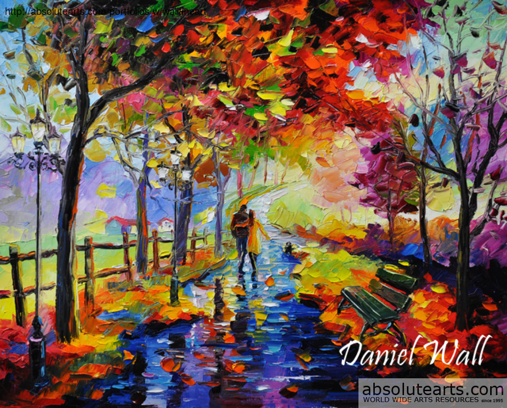 daniel wall artwork end of the rain original painting