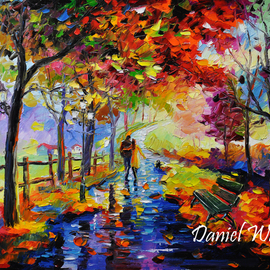 Daniel Wall Artwork End of the Rain, 2015 Oil Painting, Landscape