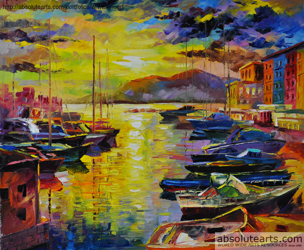 Daniel Wall Artwork: Good Morning Naples | Original Painting Oil ...
