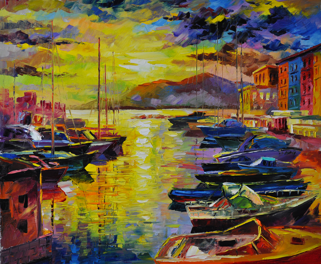 Good Morning Naples Oil Painting By Daniel Wall Absoluteartscom