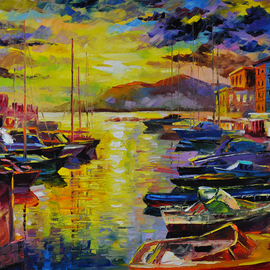 Daniel Wall: 'Good Morning Naples', 2015 Oil Painting, Cityscape. Artist Description:  Naples Italy, Portofino waterfront summer, Portofino Harbor, Italy Harbor, Italy Portofino. Italy Portaofino Sunset. Italian Sunny Day summer. Harbor morning, Harbor sunset, World famous artist painting....