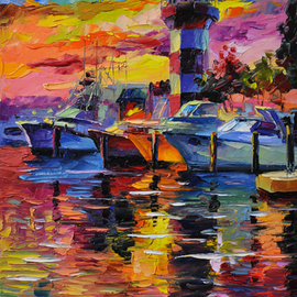 Harbour Town At Sunset, Daniel Wall