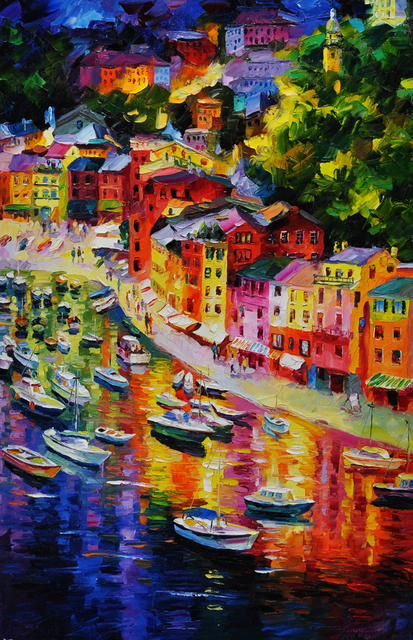 Daniel Wall 'Portofino Summer'   Painting Oil Artwork ...