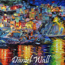 Daniel Wall: 'Sleepness Cinque Terre', 2015 Oil Painting, Landscape. Artist Description:                   Naples Italy, Portofino waterfront summer, Portofino Harbor, Italy Harbor, Italy Portofino. Italy Portaofino Sunset. Italian Sunny Day summer. Harbor morning, Harbor sunset, World famous artist painting. We Love Minnesota, Snow sunset. Canada sunset. Snowy Winter sunset. Amsterdam, Italy. Daniel Wall.                     ...