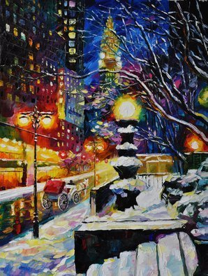 Daniel Wall: 'The Last Carriage', 2015 Oil Painting, Cityscape.  New York sunset, Carriage ride, Central Park. Night life of New York...