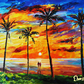 Daniel Wall: 'a breathtaking view', 2020 Oil Painting, Landscape. Artist Description: Ocean view, ocean sunrise...