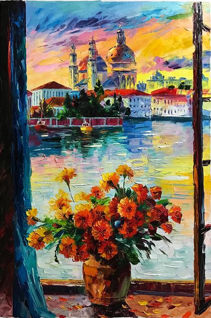 Daniel Wall Artwork: beautiful venice   Original Painting ...