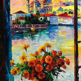 Daniel Wall: 'beautiful venice', 2017 Oil Painting, Landscape.