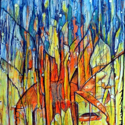 , Abs Frolic, Abstract Landscape, $472