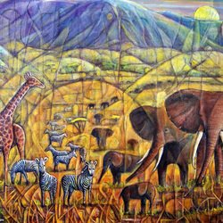, Walters Africa, Abstract Landscape, $788