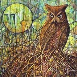 , Gh Owl, Abstract Landscape, $682