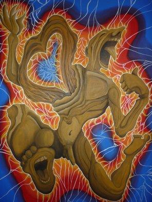 Artist: Walter Ariel Guarracino - Title: La desolacion del nangus - Medium: Oil Painting - Year: 2013