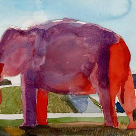 Big Pink Elephant On Interstate 55, Walter King
