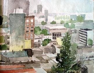 Artist: Walter King - Title: Cordoba Rain - Medium: Watercolor - Year: 2007
