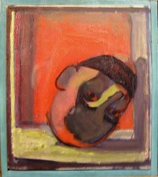 Walter King Artwork Gagged, 1989 Oil Painting, Abstract