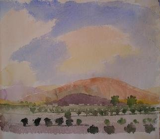Artist: Walter King - Title: La Pampa towards the Andes - Medium: Watercolor - Year: 2007