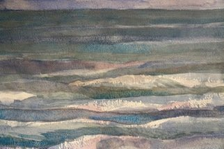 Walter King: 'Looking for Canada', 2014 Watercolor, Seascape.   Looking to Canada from Port Clinton Ohio on Lake Erie ...