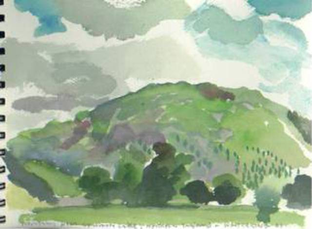 Walter King  'Near Grasmere Lake In Northern England', created in 1998, Original Collage.