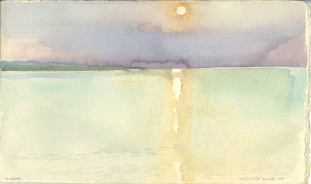 Walter King  'Sunset Zadar Croatia', created in 1997, Original Collage.