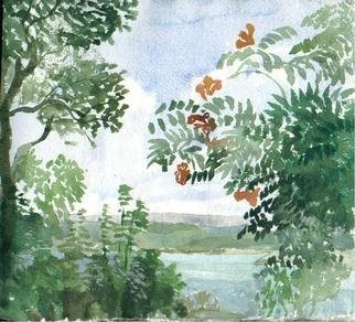 Artist: Walter King - Title: Tante Chriss Trumpet Vine - Medium: Watercolor - Year: 2007