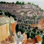 Tsankawi Cliffs Near Bandelier Cliff Dwellings, Walter King
