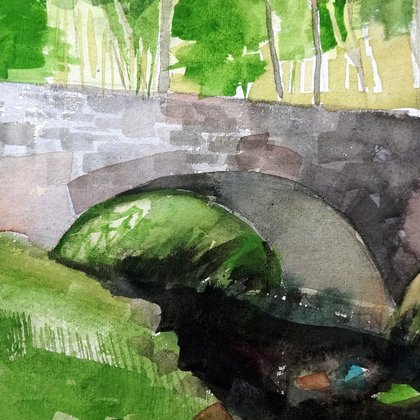 , The Bridge 1, Landscape, $315