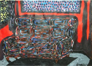 Willie Wambugu: 'Couch in the light ', 2010 Other Painting, Interior.   The couch is a household piece of furniture that is both a source of beauty and comfort as well.  ...