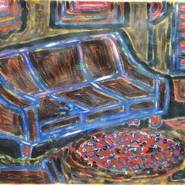 Willie Wambugu Artwork New couch painting, 2010 Other Painting, Interior