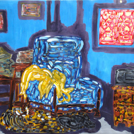 Willie Wambugu Artwork Relaxing by the window, 2010 Other Painting, Interior