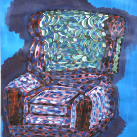 Willie Wambugu Artwork Setting the sofa, 2010 Other Painting, Interior