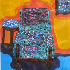 Willie Wambugu Artwork Sitting alone, 2010 Other Painting, Interior