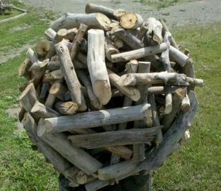 Asa Wood: 'Nest For Man', 2011 Wood Sculpture, Abstract. Artist Description:   sculptur, figurine, rustic, driftwood, wood carving, porch, patio, garden, tree, last, abstract, nature, natural, outdoors,   ...