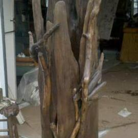 Asa Wood: 'snake n crane', 2011 Wood Sculpture, Abstract. Artist Description:       sculpture, furniture, rustic, driftwood, wood carving, porch, patio, garden, tree, last, abstract, nature, natural, outdoors,       ...