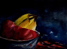 - artwork Fruit-1254894537.jpg - 2006, Watercolor, Still Life