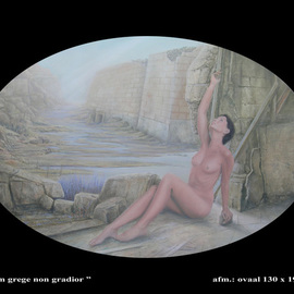Tonny Warrens Artwork cum grege non gradior, 2010 Oil Painting, Surrealism