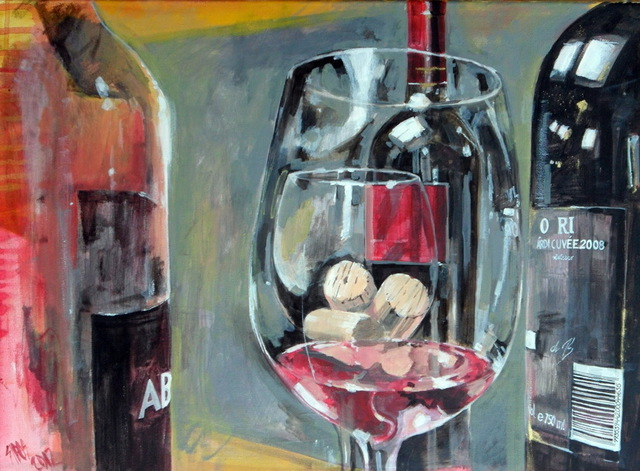 Sipos Lorand  'Cork Transparenty', created in 2010, Original Painting Acrylic.