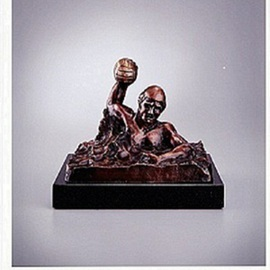 Robert Hughes: 'GoalShooter', 2012 Bronze Sculpture, Sports. Artist Description:        Known for his strength and passion for the game, artist created this signed limited edition bronze by Olympic athlete and artist Bob Hughes.         ...