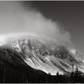 Wayne King: 'Cannon Cliffs in the Clouds', 2008 Black and White Photograph, Landscape. Artist Description:  Cannon Mountain and the world famous Cannon cliffs one of the most challenging climbs in the northeastern US. Rock climbers from all over the world come to Cannon to climb this face: cannon, canon, cliff, cliffs, Mountain, franconia range, white mountains, NH. New Hampshire, appalachian mountains, north country, ...