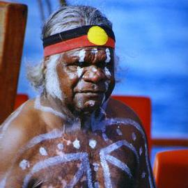 Wayne Quilliam: 'Modern v Traditional', 2001 Color Photograph, Inspirational. Artist Description: An image captured when a traditional aboriginal elder attended the national reconcilliation event in Sydney( Pulished in International newspapers)...