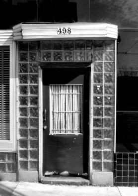 Wayne Wilcox: '498 South Main', 2007 Black and White Photograph, Cityscape.