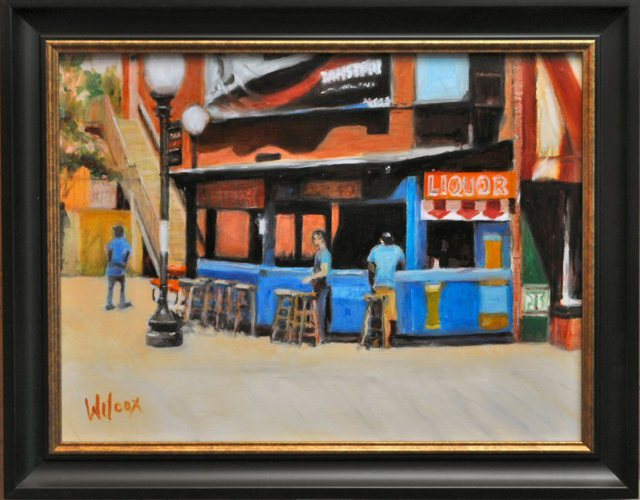 Wayne Wilcox  'Beale Street Bar', created in 2011, Original Photography Black and White.