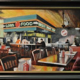 Wayne Wilcox: 'Dyers Afternoon', 2010 Oil Painting, Interior. Artist Description:  Dyers Beale Street Memphis   ...