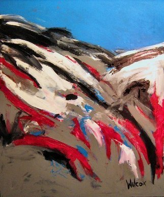 Wayne Wilcox: 'River Runs Through It', 2009 Acrylic Painting, Abstract Landscape.