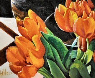 Wayne Wilcox: 'Study in Orange', 2009 Oil Painting, Still Life.