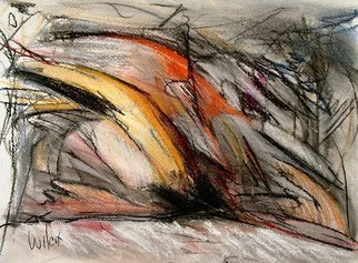 Wayne Wilcox: 'Study in Yellow', 2007 Pastel, Abstract.